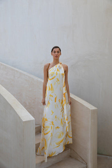 Florence Dress - Yellow Multi (EXCLUSIVE)