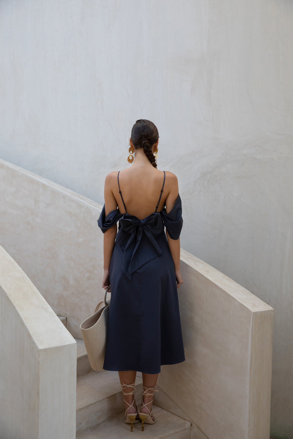 Katalina Dress - Navy