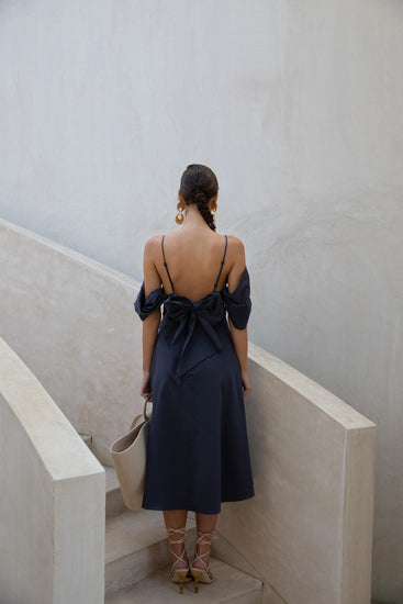 Katalina Dress - Navy (PREORDER)