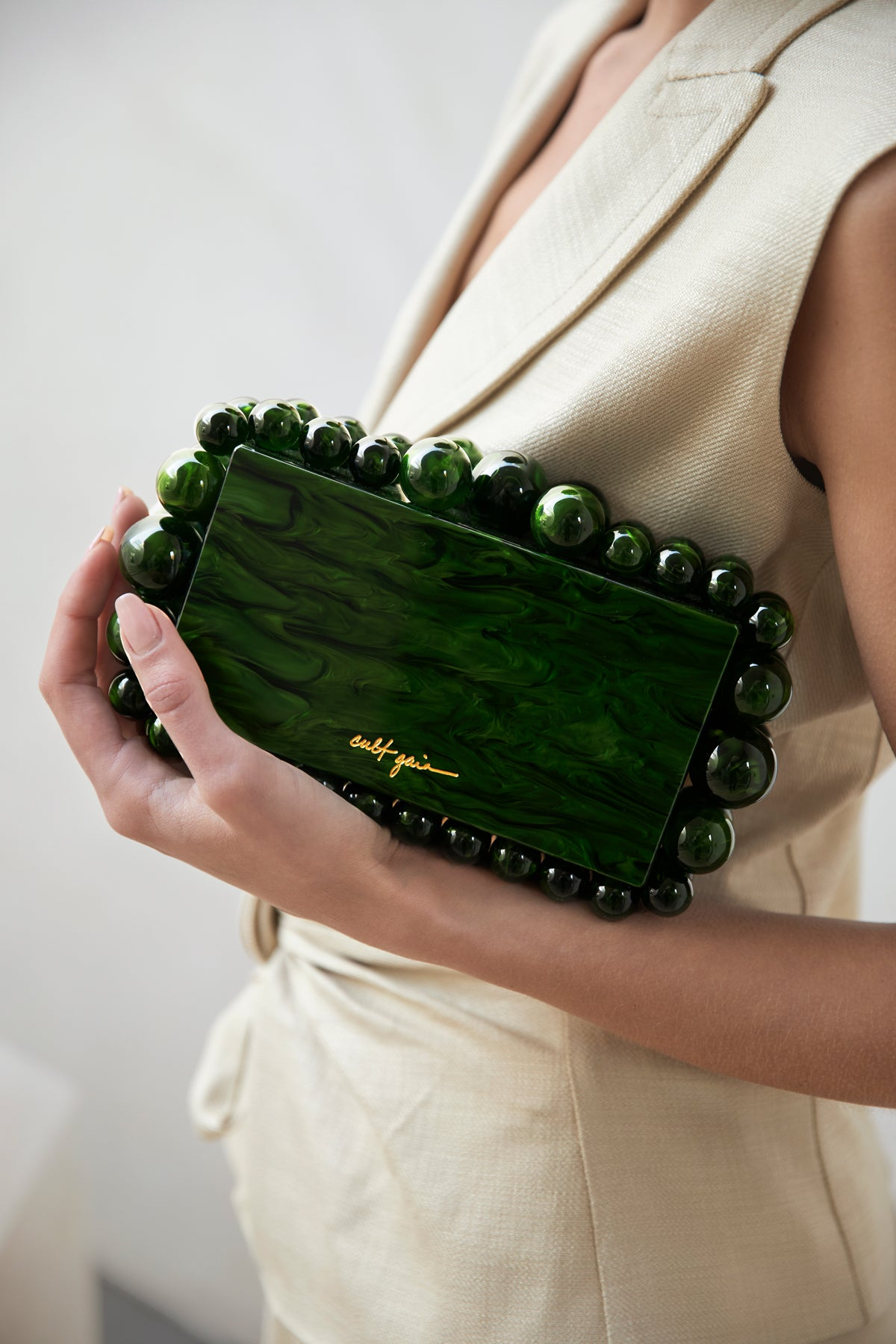 Eos Box Clutch - Malachite