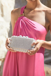 Eos Rhinestone Clutch - Clear