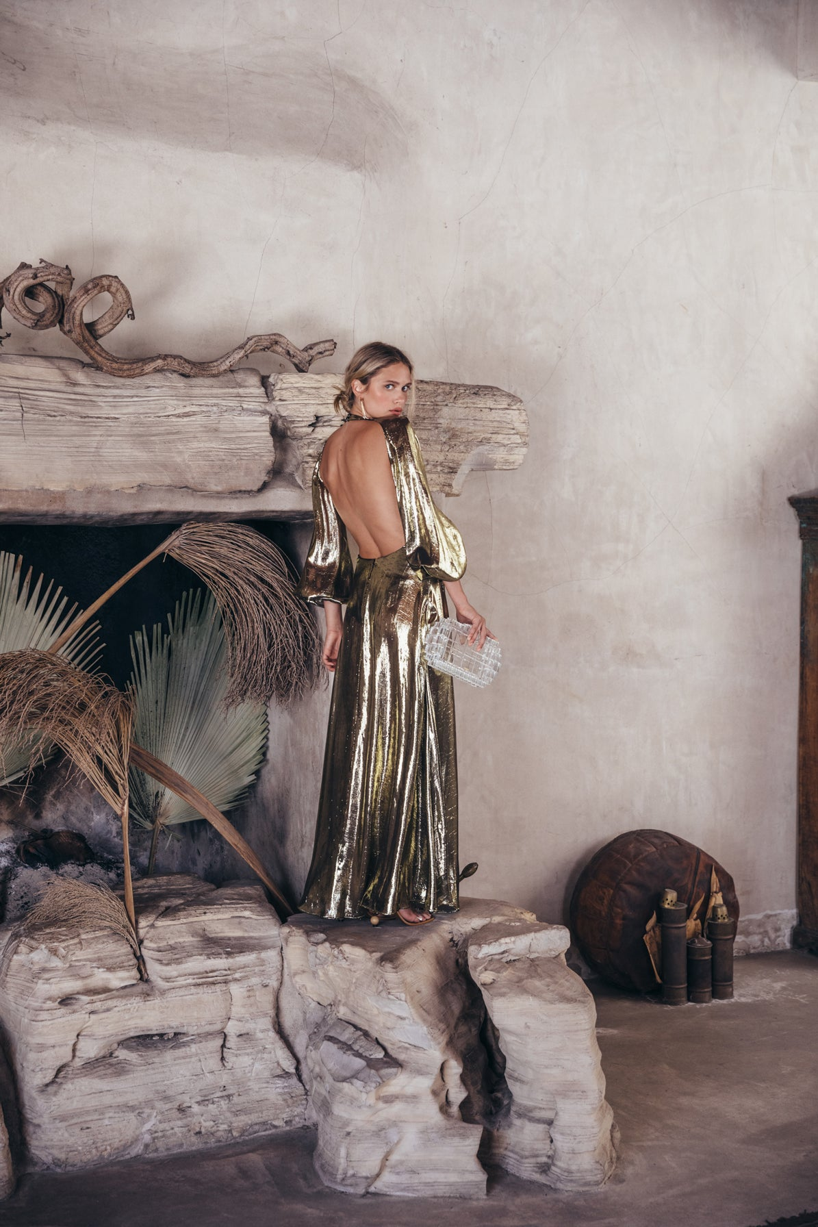 Hera Gown - Gold Metallic