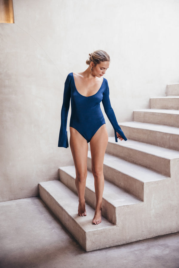 Jolene Knit Bodysuit - Dark Navy