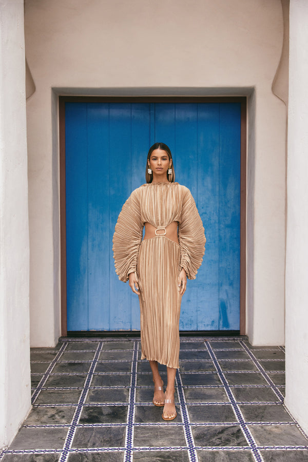Akilah Dress - Light Camel
