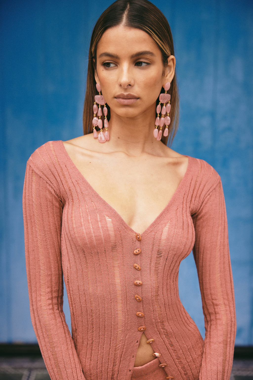 Laila Knit Dress - Wild Rose