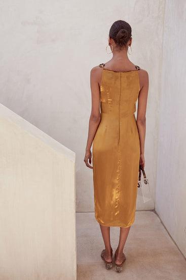 Mina Dress - Gold