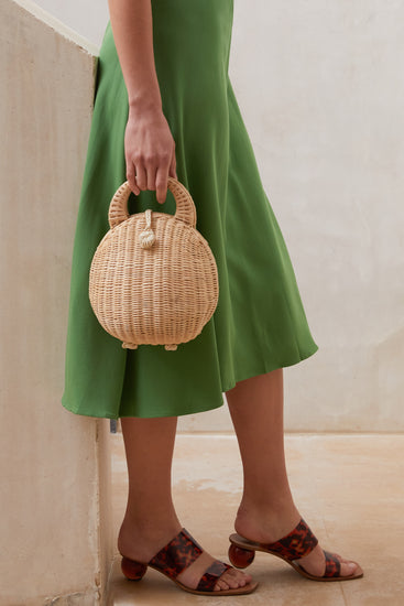 Millie Rattan Bag- Natural