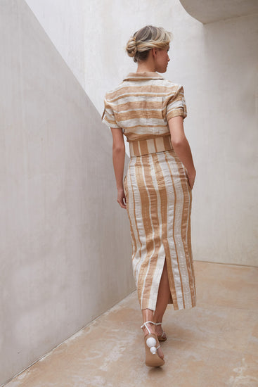 Hera Skirt - Natural Stripe