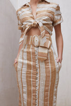 Lia Belt - Natural Stripe