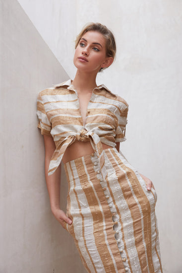 Madeline Top - Natural Stripe (PREORDER)