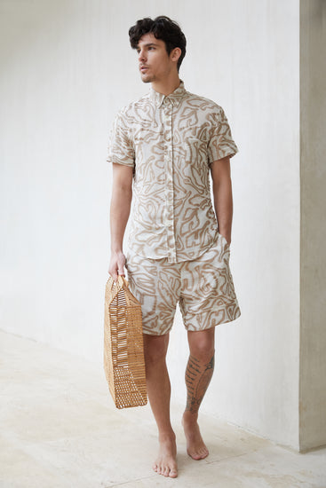 Jason Button Down - Sand Multi