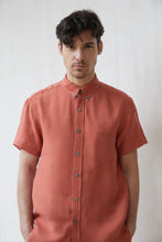 Luca Button Down  - Terracotta