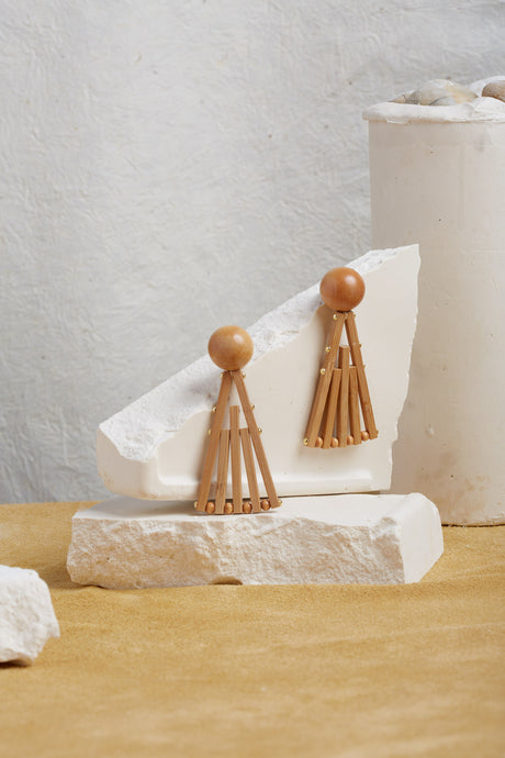 Fan Earring - Natural