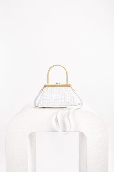 Mini Estelle Crossbody - White