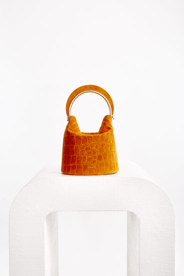 Aria Bucket Crossbody - Saffron