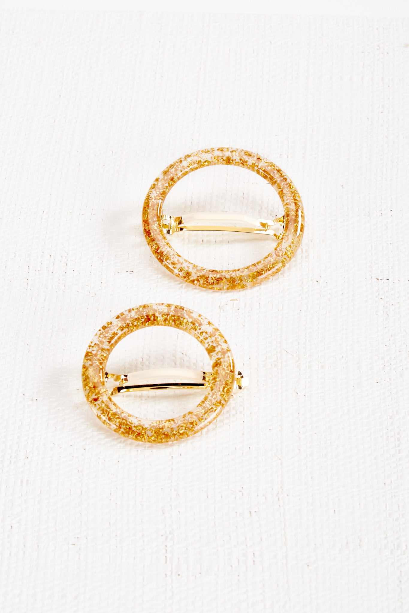 Ria Barrette Set - Gold Flake
