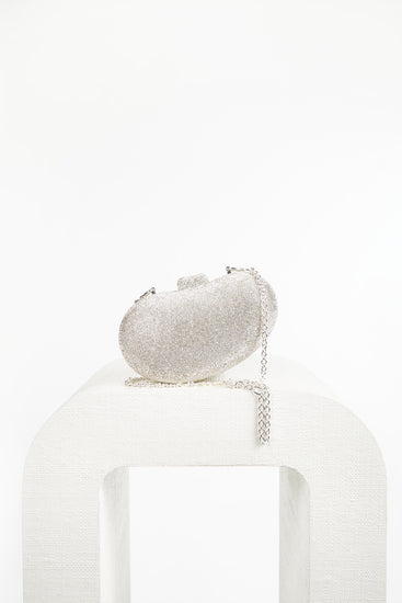 Tallulah Rhinestone Shoulder Bag - Clear (PREORDER)