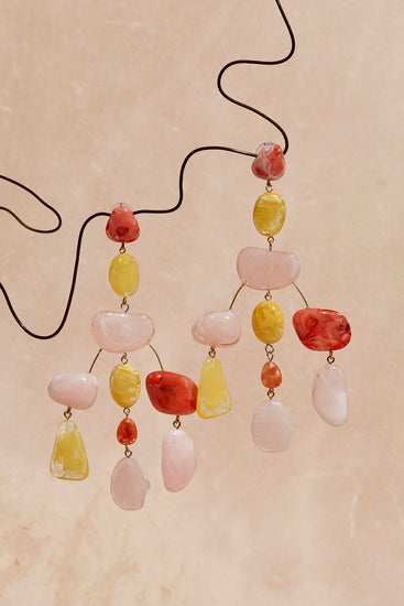 Sloane Rock Earring - Citrus Multi