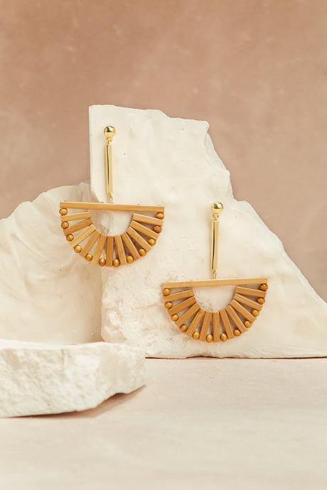 Ark Earring - Natural