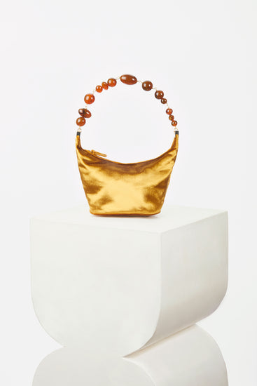 Gia Bag - Gold Velvet