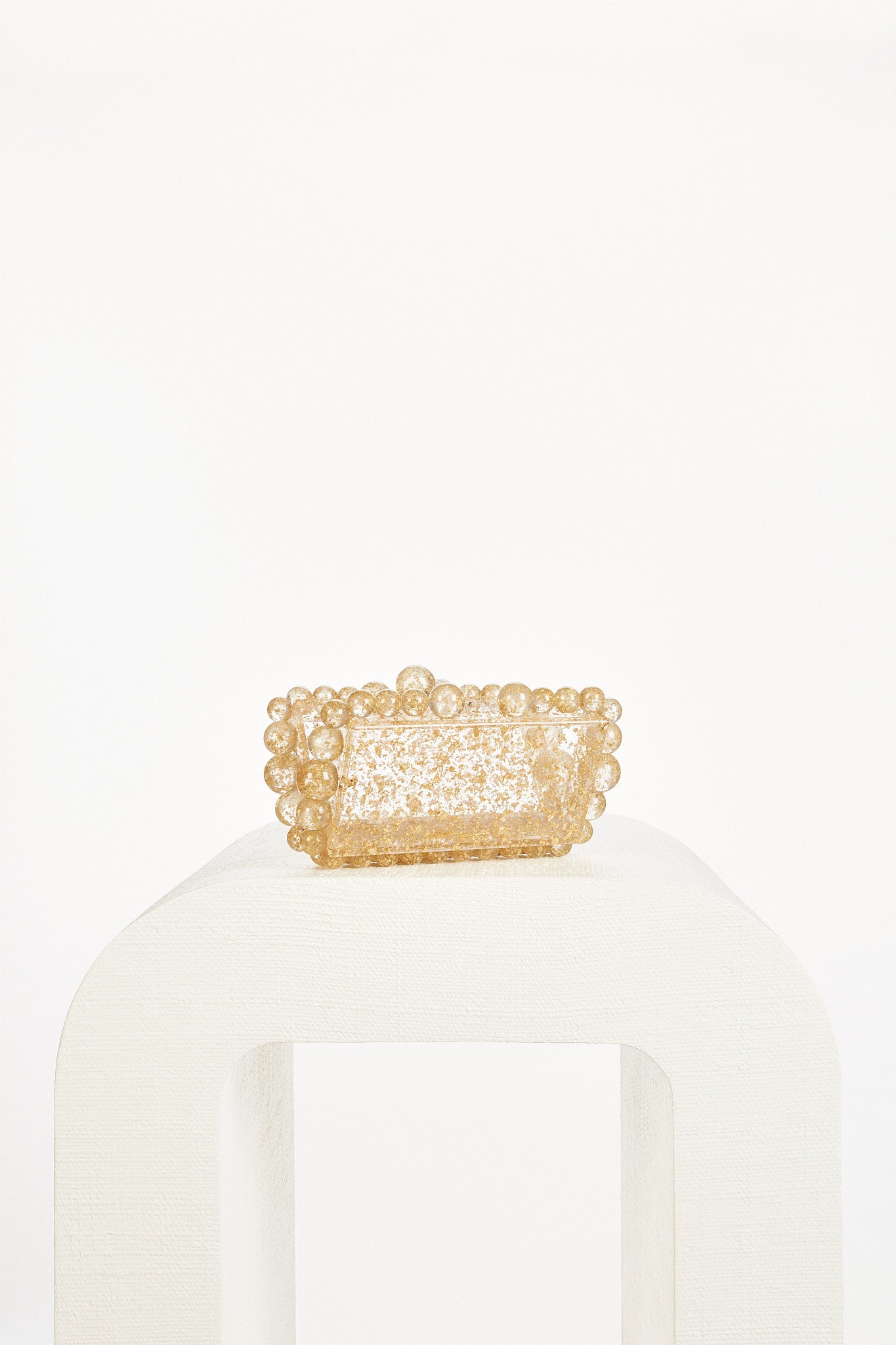 Eos Box Clutch - Gold Flake