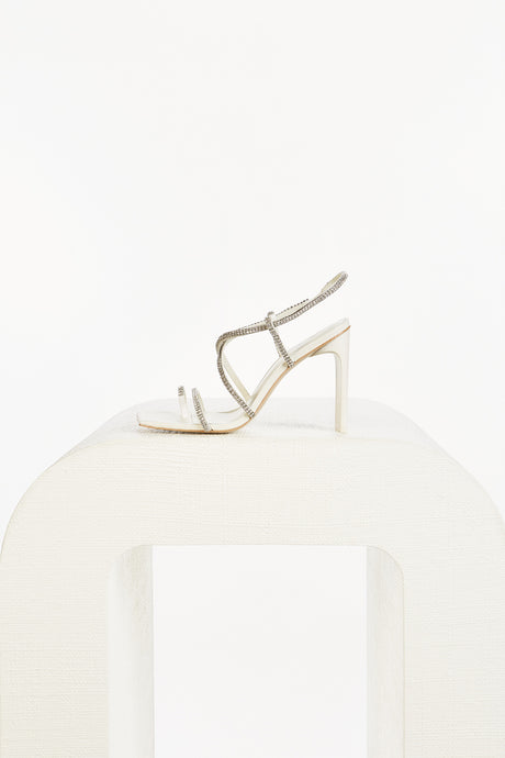 Sandra Crystal Heel - Off White
