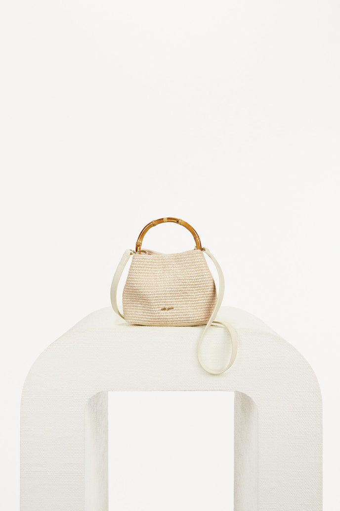 SOLENE MINI CROSSBODY - NATURAL