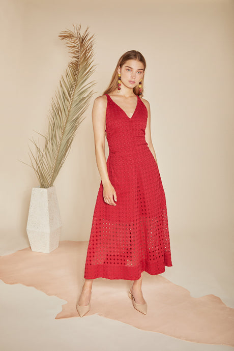 Elle Dress - Raspberry