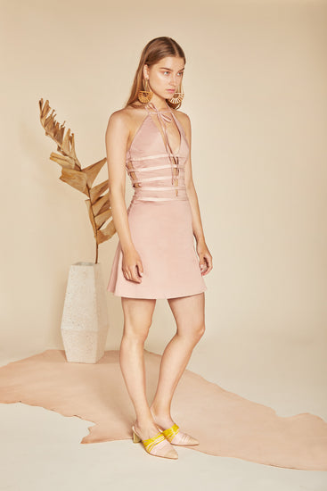 Paige Dress - Rose Quartz