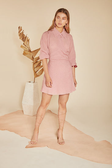 Georgia Shirtdress - Rose Quartz