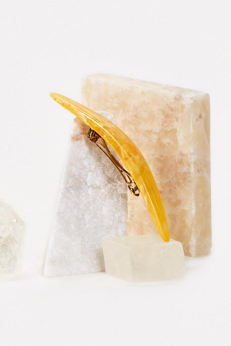 Large Barrette - Yellow Quartz