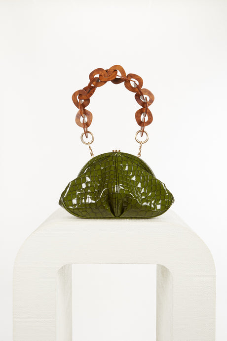Anna Shoulder Bag - Olive (PREORDER)