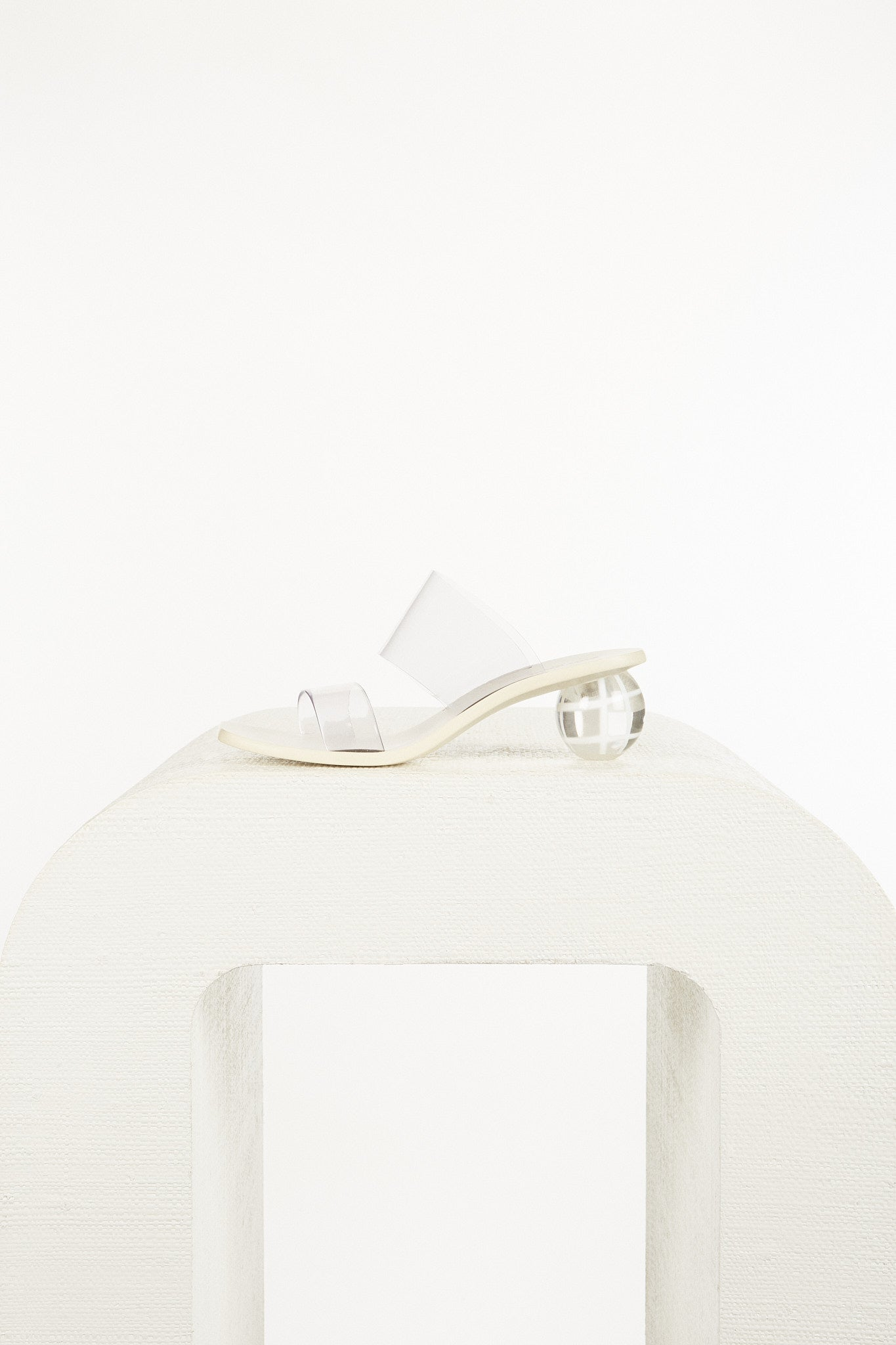 Jila Grid Heel - Off White