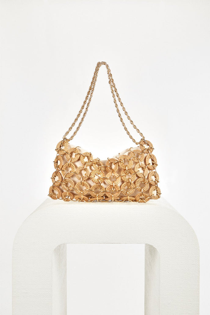 ANGELA SHOULDER BAG - NATURAL