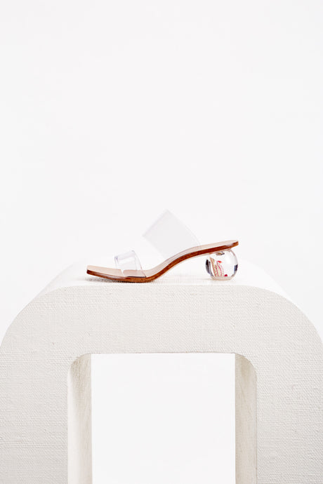 Jila Flower Sandal - Clear