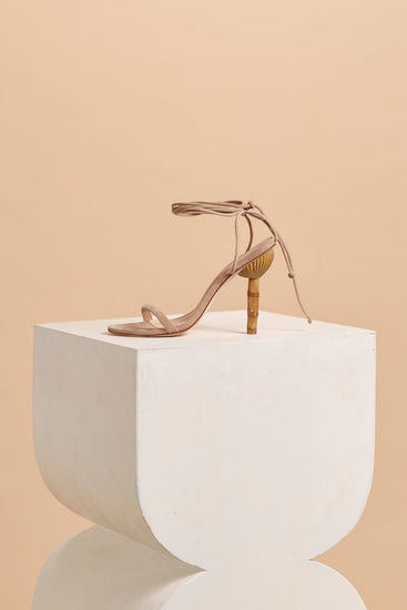 Luna Leather Heel - Sand