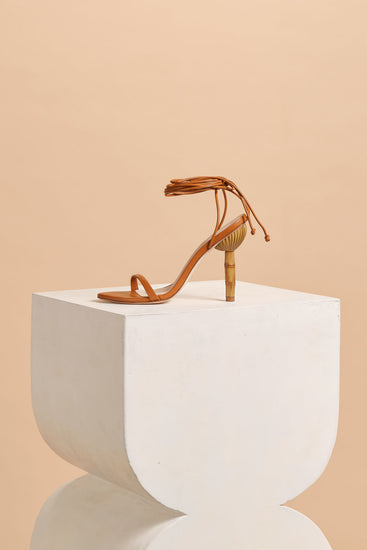 Luna Leather Heel - Cognac