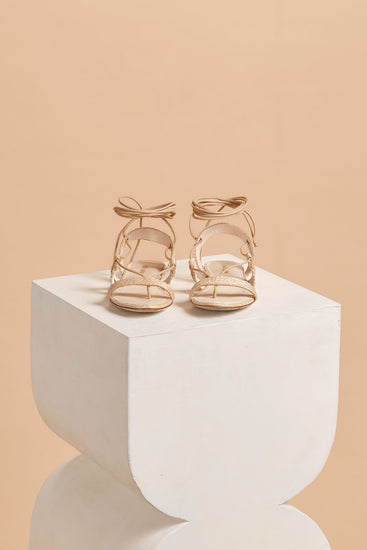 Sienna Leather Sandal - Natural