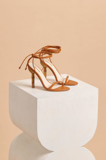 Luna Leather Sandal - Cognac