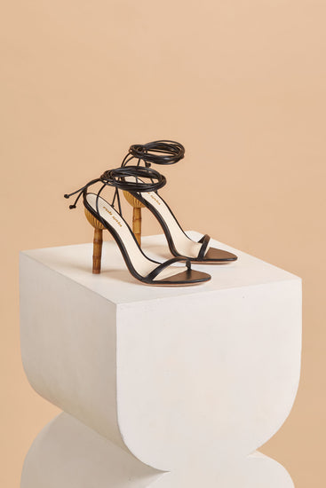 Luna Leather Sandal - Black