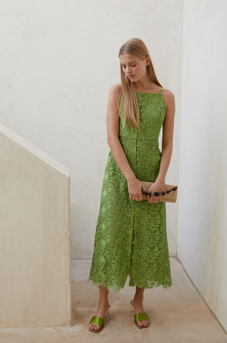 Giana Dress - Lime