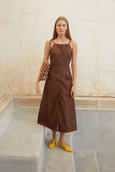 Giana Dress - Mahogany (PREORDER)