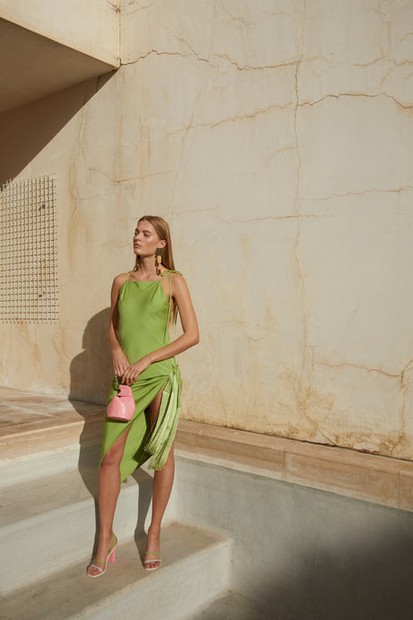 Giselle Dress - Lime