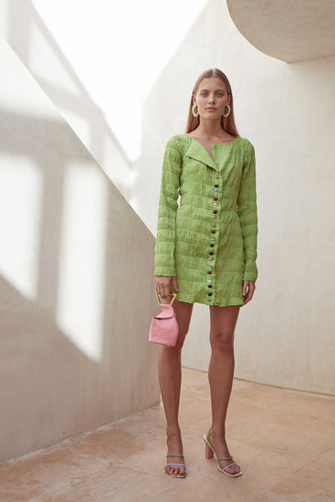 Lafina Dress - Lime