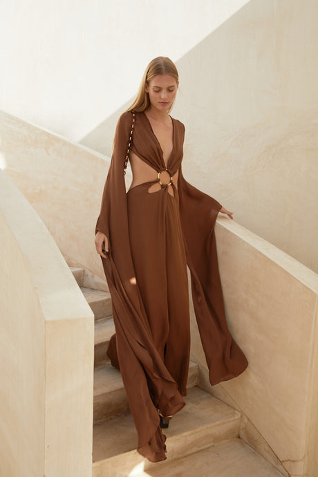 Jasmin Cutout Gown - Cocoa