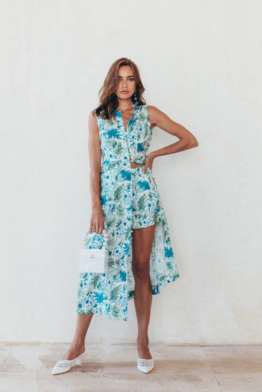 Gia House Dress - Azure Multi (PREORDER)