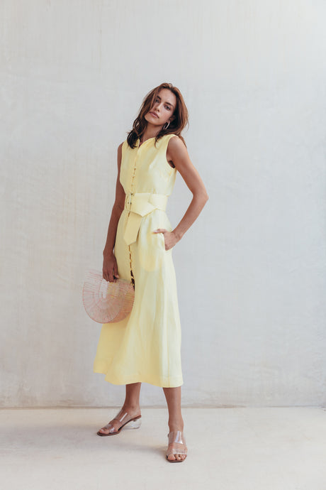 Gia House Dress - Lemonade