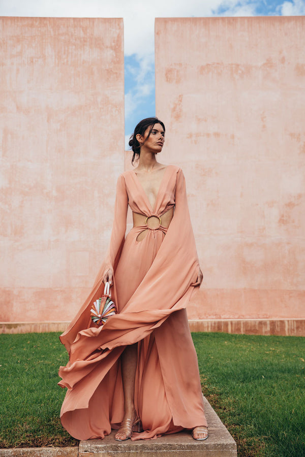 Jasmin Cutout Gown - Rose Quartz