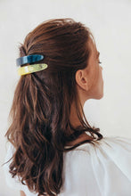 Large Barrette - Azure