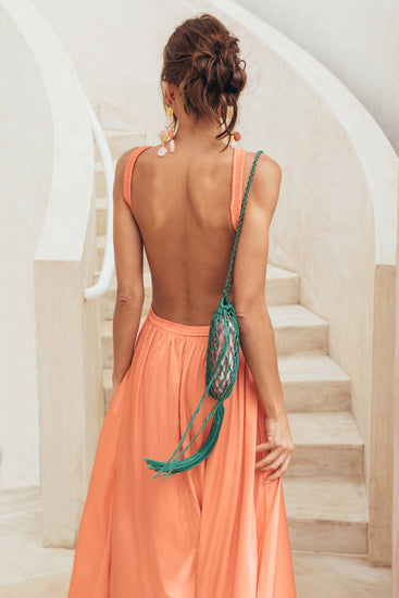 Theia Dress - Melon